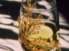 Chardonnay jewel on wine glass